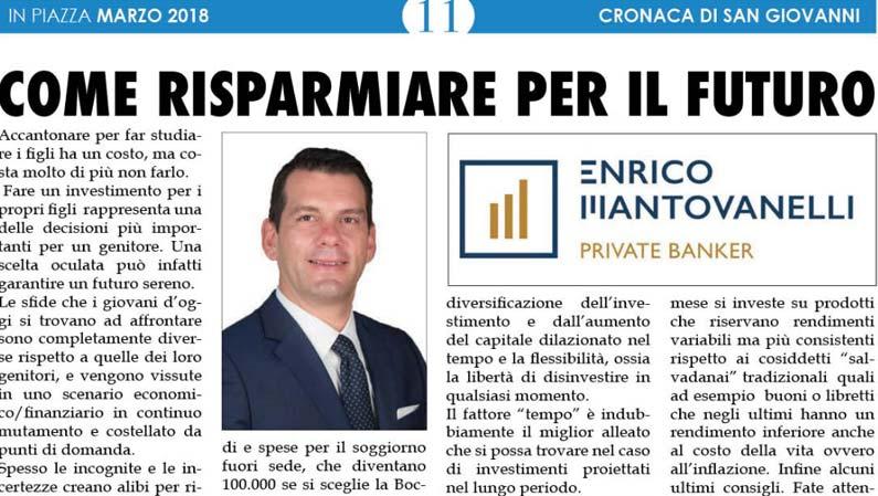"""Nuovo Articolo Sul Mensile """"In Piazza"""""""